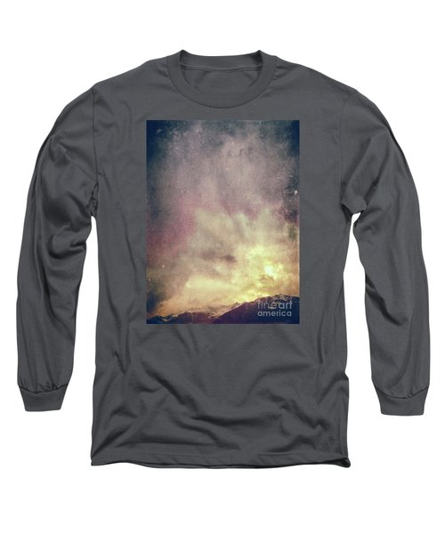 Long Sleeve T-Shirt featuring the photograph Alps With Dramatic Sky by Silvia Ganora