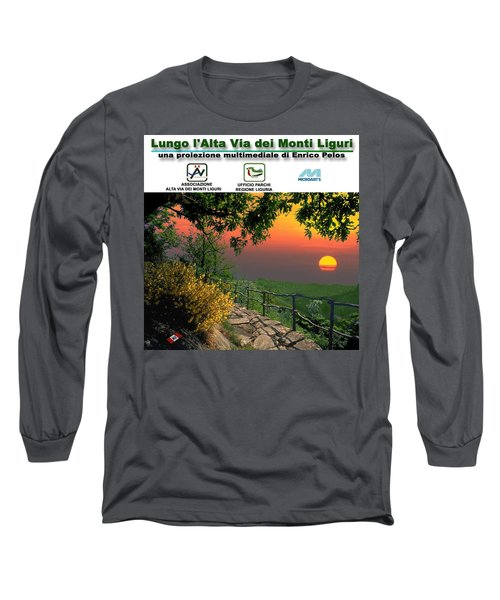 Alta Via Dei Monti Liguri Cd Case Label Long Sleeve T-Shirt