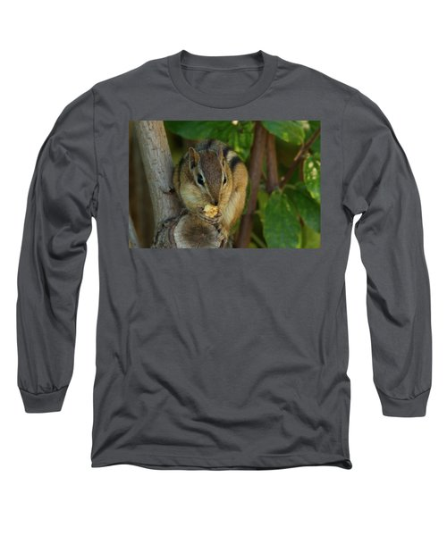 Long Sleeve T-Shirt featuring the photograph Alvin Eating 1 by Brian Hale