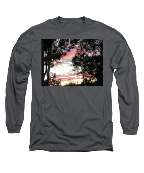 Amazing Clouds Black Trees Long Sleeve T-Shirt