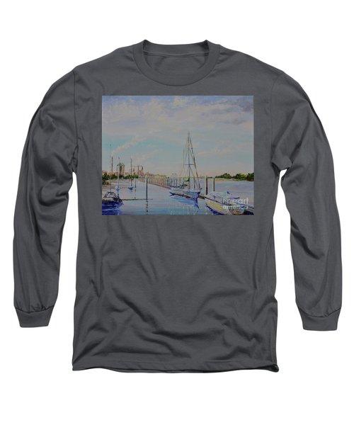 Amelia Island Port Long Sleeve T-Shirt by AnnaJo Vahle