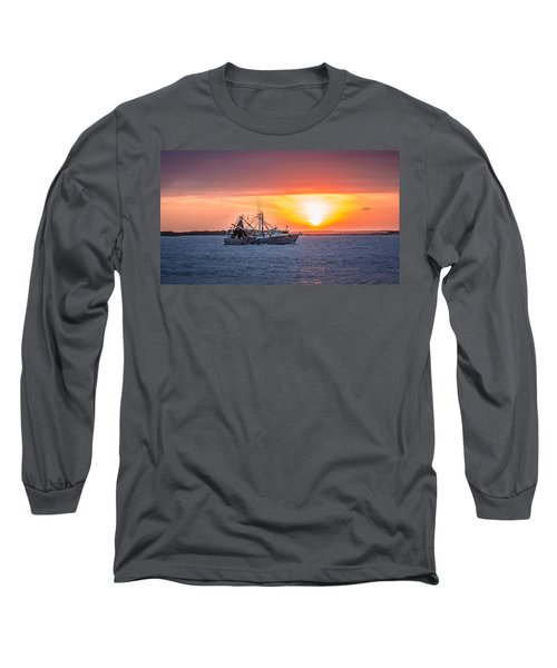 Amelia River Sunset 25 Long Sleeve T-Shirt by Rob Sellers