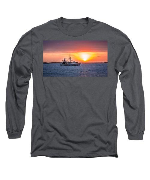 Amelia River Sunset 25 Long Sleeve T-Shirt