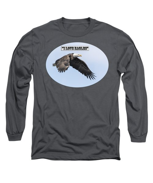 American Bald Eagle 2015-25 Isolated Long Sleeve T-Shirt by Thomas Young
