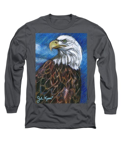 American Bald Eagle Long Sleeve T-Shirt by John Keaton