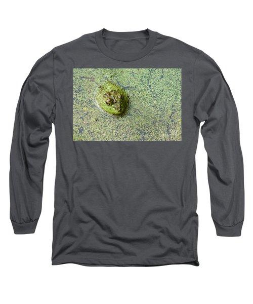 American Bullfrog Long Sleeve T-Shirt by Sean Griffin