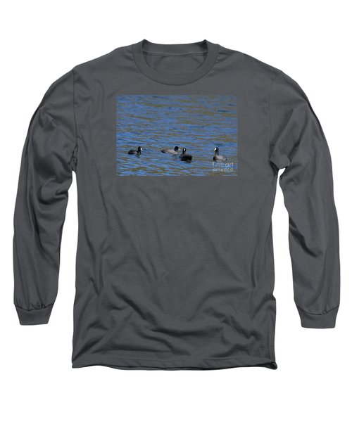 Long Sleeve T-Shirt featuring the photograph American Coots 20120405_216a by Tina Hopkins