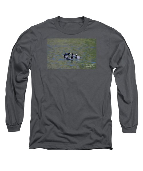 Long Sleeve T-Shirt featuring the photograph American Coots 20120405_278a by Tina Hopkins