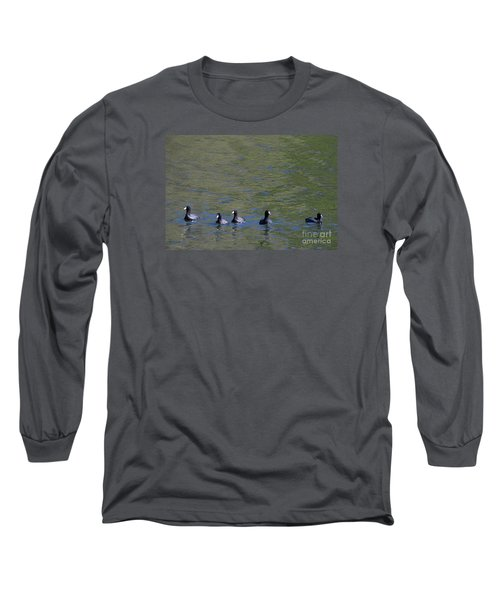 Long Sleeve T-Shirt featuring the photograph American Coots 20120405_280a by Tina Hopkins