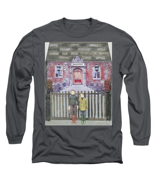 Long Sleeve T-Shirt featuring the mixed media American Dreams by Desiree Paquette