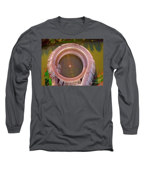 Long Sleeve T-Shirt featuring the photograph American Eagle Roller Coaster  by Tom Jelen