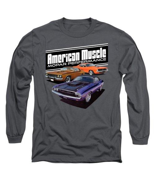 American Mopar Muscle Long Sleeve T-Shirt by Paul Kuras