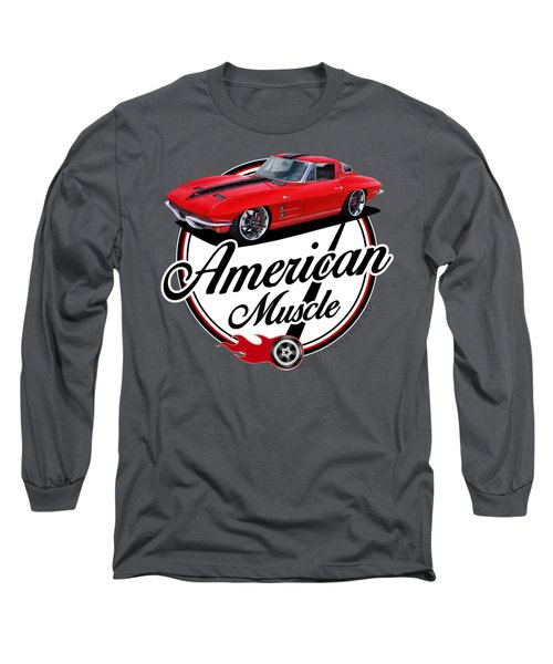 American Muscle In Red Long Sleeve T-Shirt