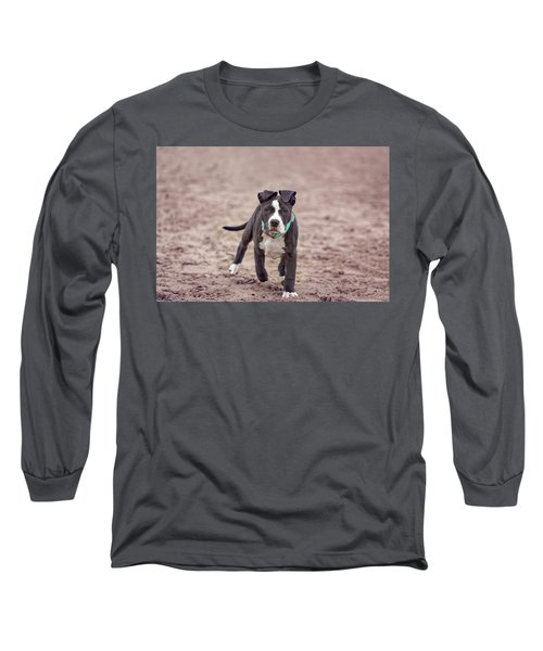 Long Sleeve T-Shirt featuring the photograph American Pitbull  by Peter Lakomy