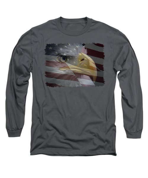 Long Sleeve T-Shirt featuring the photograph American Pride 3 by Ernie Echols