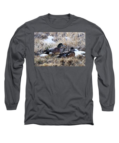 American Wigeon Mated Pair Long Sleeve T-Shirt