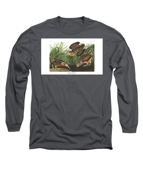 American Woodcock Long Sleeve T-Shirt by MotionAge Designs