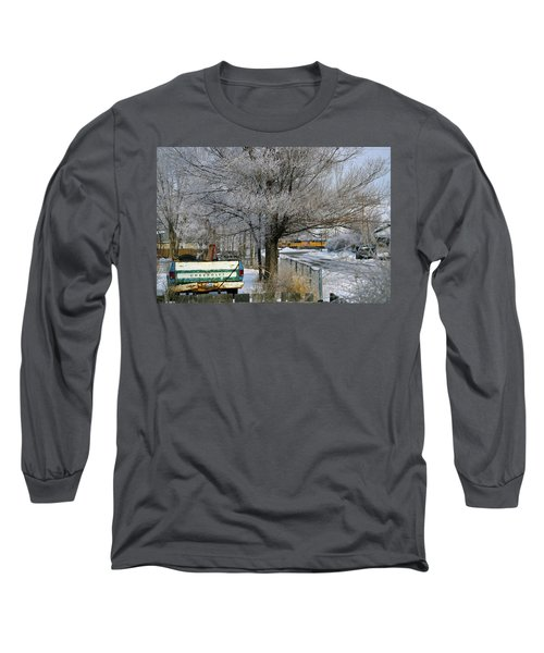 Americana And Hoarfrost Long Sleeve T-Shirt by Eric Nielsen
