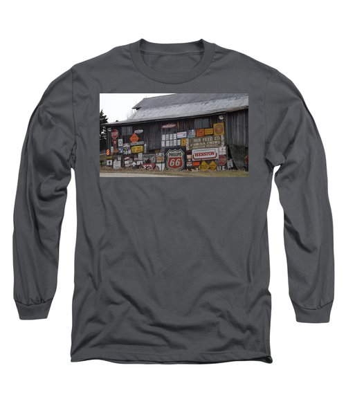 Americana Signs Long Sleeve T-Shirt by Don Koester