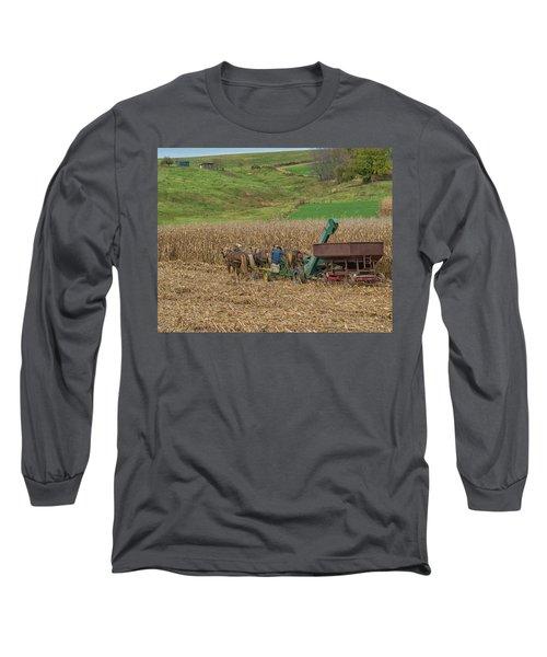 Amish Harvest In Ohio  Long Sleeve T-Shirt