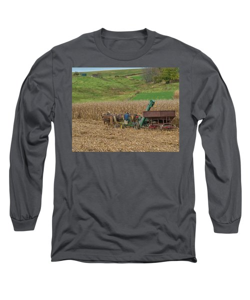 Amish Harvest In Ohio  Long Sleeve T-Shirt