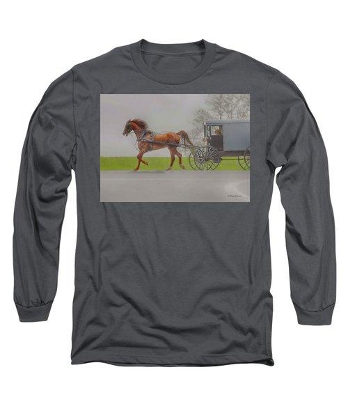 Amish Sunday Ride Long Sleeve T-Shirt