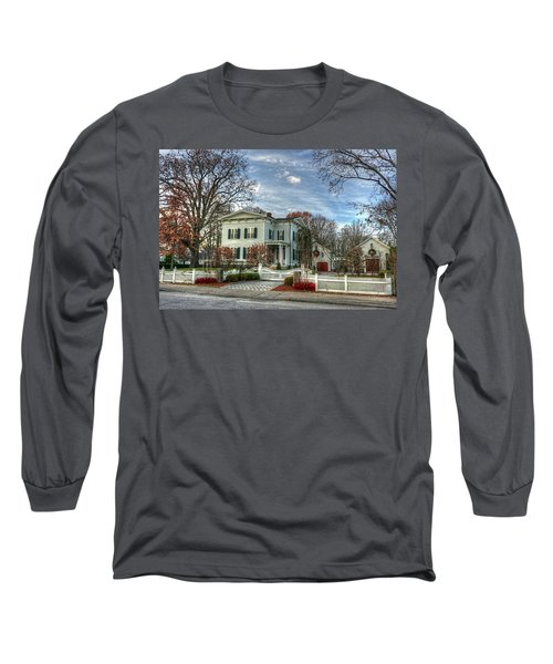 Long Sleeve T-Shirt featuring the photograph Amos Tuck House In Late Autumn by Wayne Marshall Chase