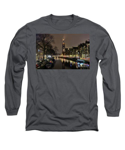 Amsterdam By Night - Prinsengracht Long Sleeve T-Shirt