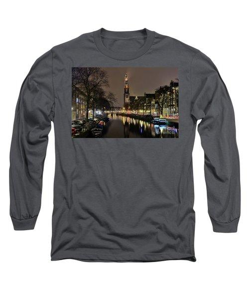 Amsterdam By Night - Prinsengracht Long Sleeve T-Shirt