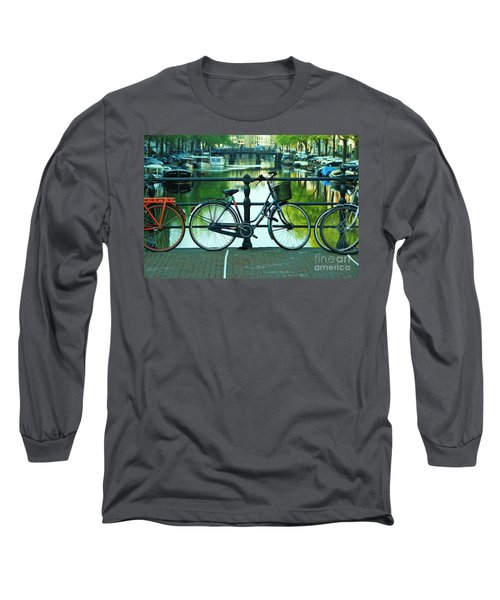 Long Sleeve T-Shirt featuring the photograph Amsterdam Scene by Allen Beatty