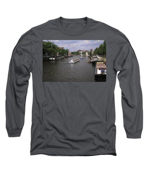 Amsterdam Water Scene Long Sleeve T-Shirt