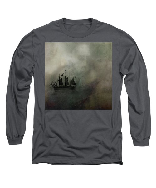 Amundsen And Fram Long Sleeve T-Shirt by Andy Walsh