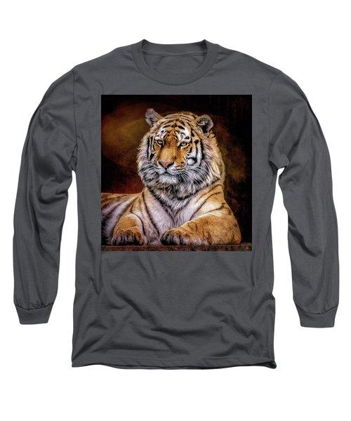Amur Tiger Long Sleeve T-Shirt by Brian Tarr