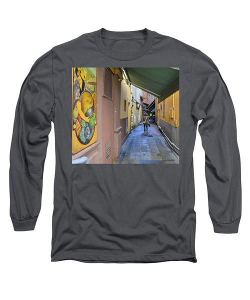 Long Sleeve T-Shirt featuring the photograph An Alley In Nice by Allen Sheffield