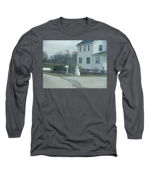 An Amish Snowman Long Sleeve T-Shirt