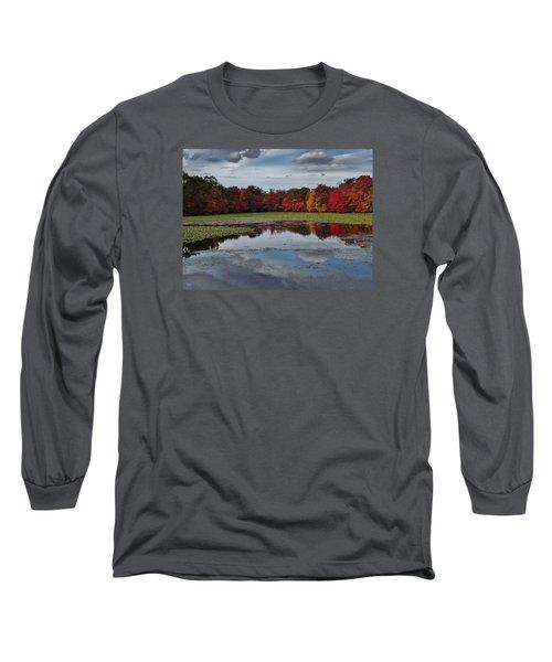 An Autumn Day Long Sleeve T-Shirt by Mikki Cucuzzo