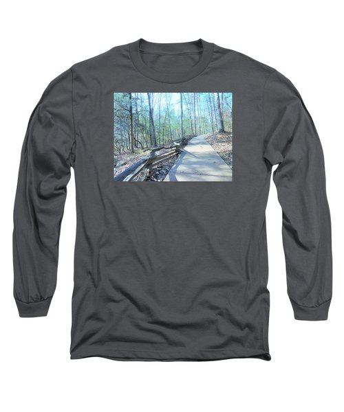 An Autumn Walk In The Woods Long Sleeve T-Shirt by Kay Gilley