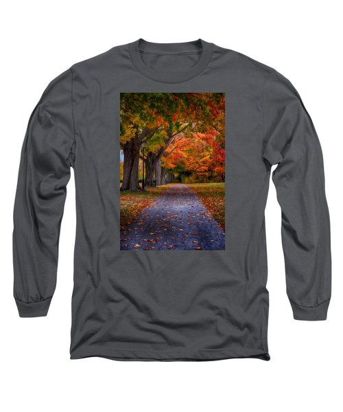An Autumn Walk Long Sleeve T-Shirt by Tricia Marchlik