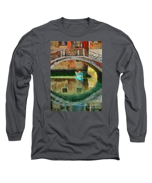 An Early Morning In Venice Long Sleeve T-Shirt by Dragica  Micki Fortuna