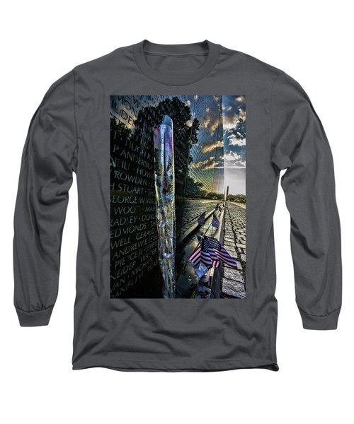 An Early Morning Look At Vietnam Veterans Memorial Long Sleeve T-Shirt