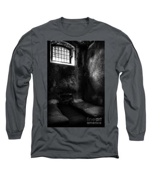 Long Sleeve T-Shirt featuring the photograph An Empty Cell In Old Cork City Gaol by RicardMN Photography