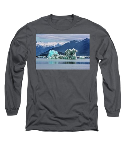 An Iceberg In The Inside Passage Of Alaska Long Sleeve T-Shirt