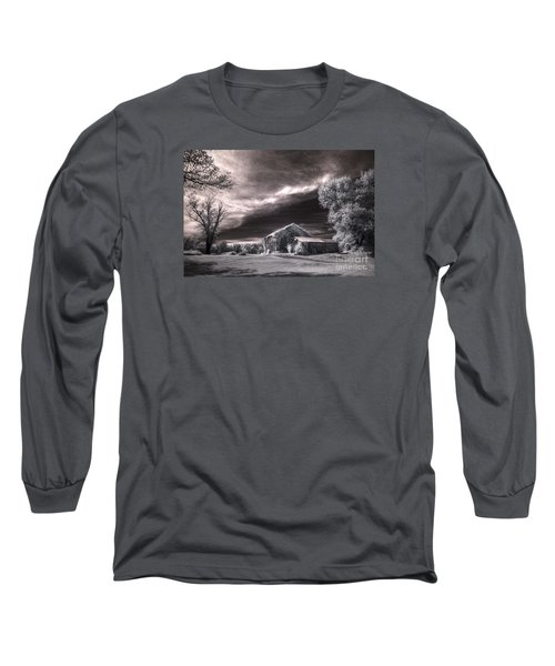 Long Sleeve T-Shirt featuring the digital art An Ivy Covered Rustic by William Fields