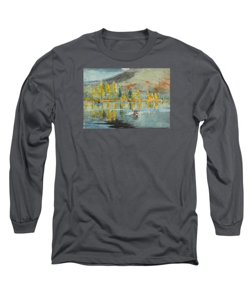 Long Sleeve T-Shirt featuring the painting An October Day by Winslow Homer