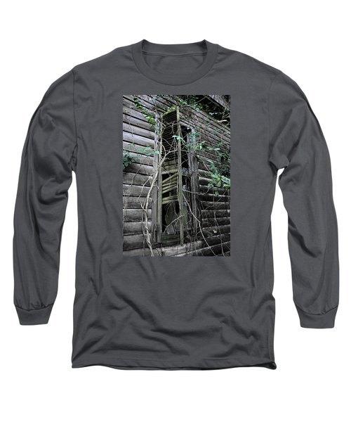 An Old Shuttered Window Long Sleeve T-Shirt