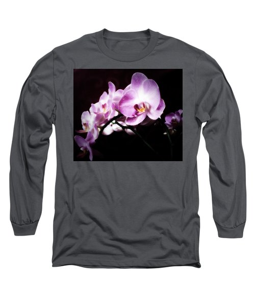 An Orchid For You Long Sleeve T-Shirt by Gabriella Weninger - David