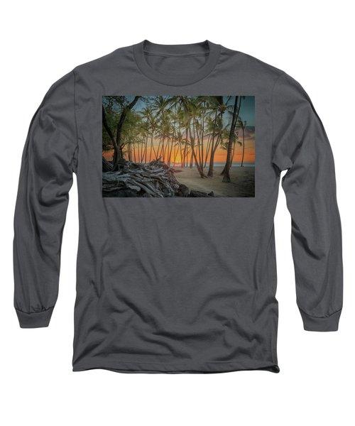 Anaehoomalu Beach Sunset Long Sleeve T-Shirt