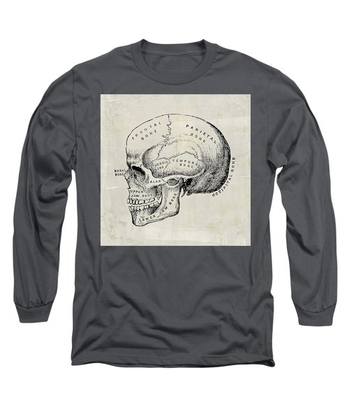 Anatomical Skull Medical Art Long Sleeve T-Shirt