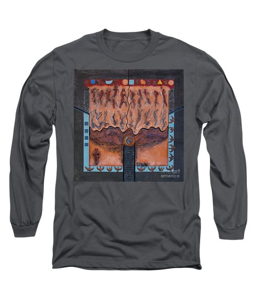 Ancestral Chart- Ancient Early - Hunters Gatherers - Chasseurs Cueilleurs - Cazadores Recolectores  Long Sleeve T-Shirt