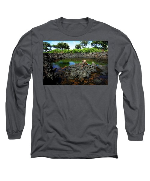 Long Sleeve T-Shirt featuring the photograph Anchialine Pond by Anthony Jones